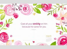 March 2016 1 Peter 57 Desktop Calendar Free March
