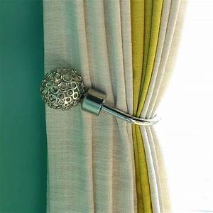 2pcs modern curtain holdback tieback hollow metal tie With modern curtain holders