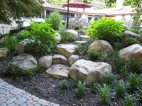 using boulders in landscaping landscape ideas by nicocado boulder landscape design