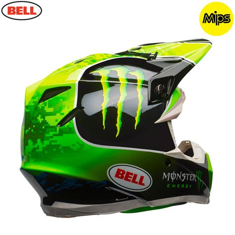 monster energy motocross gear 2018 bell moto 9 mips tomac monster energy helmet black green