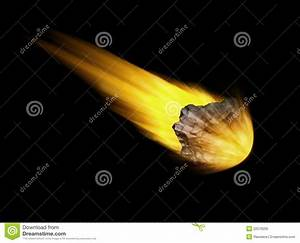 Falling Asteroid On Black Background Royalty Free Stock ...