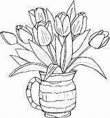 Printable Flower Coloring Pages sketch template