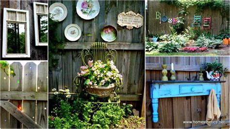 Backyard Fence Decor - get creative with these 23 fence decorating ideas and