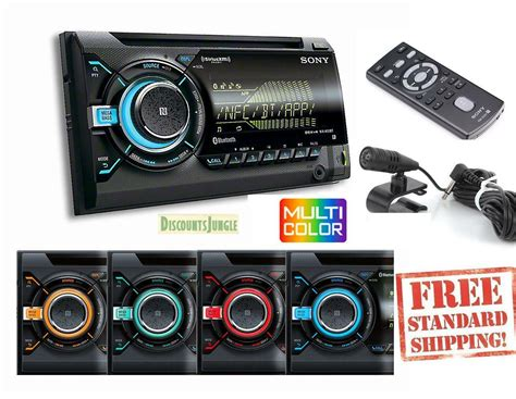 New Sony Wx900bt Double Din Cd Player Car Radio Bluetooth