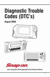 Diagnostic Trouble Codes  Dtc S