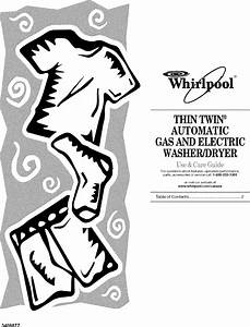 Whirlpool Lte5243dq1 User Manual Washer  Dryer Laundry