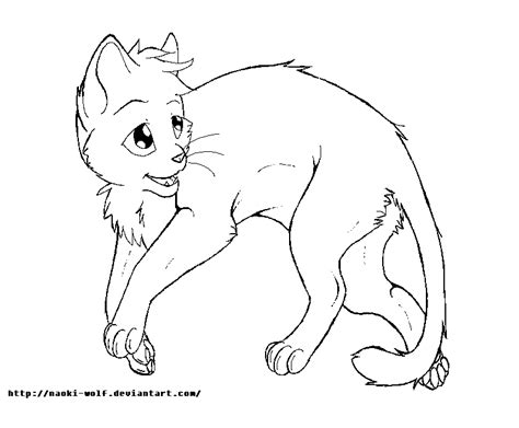 warrior cat template warrior cats kit coloring pages