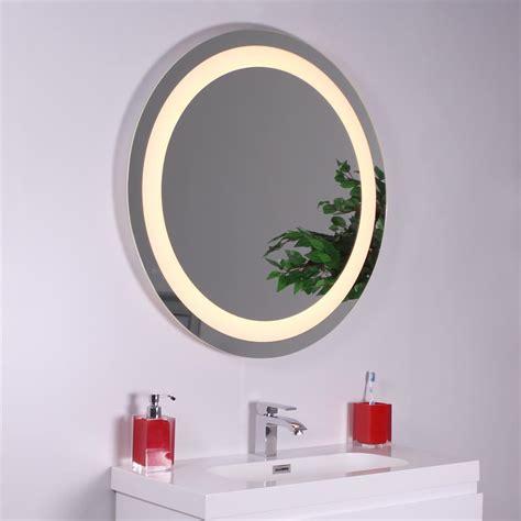 miroir salle de bain eclairant miroir rond salle de bains 233 clairant led santiago bmeu064