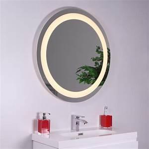 Miroir Rond Salle De Bain : miroir rond salle de bains clairant led santiago bmeu064 ~ Nature-et-papiers.com Idées de Décoration