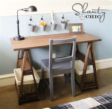 restoration hardware diy desk shanty  chic