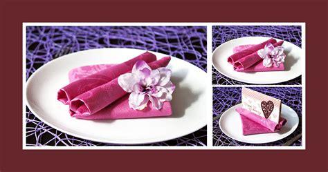 servietten falten menuekarte