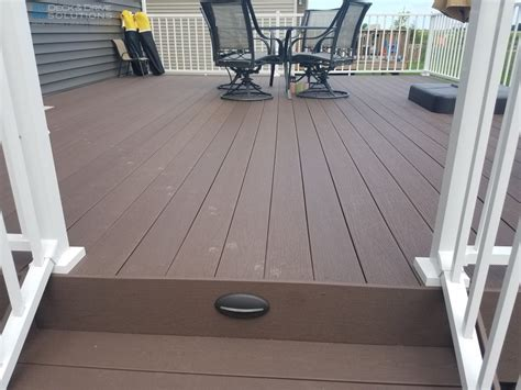 deck tech solutions inc new timbertech rustic elm decking with white westbury