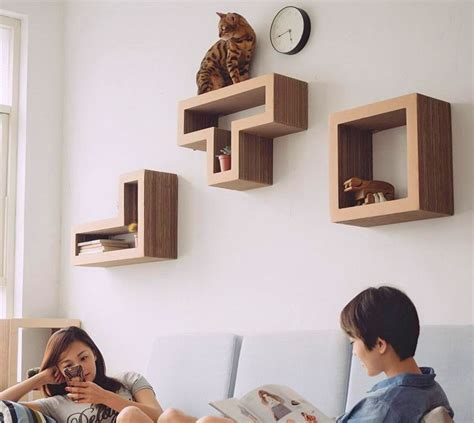 katris modular cat shelves  tetris blocks