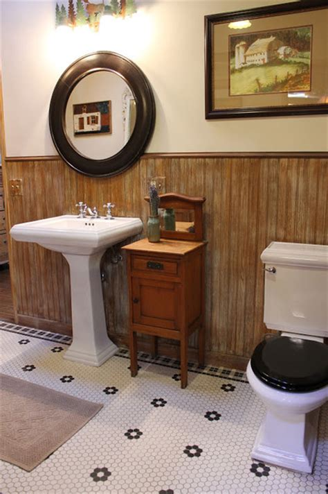 Adirondack Style Lodge - Rustic - Bathroom - los angeles