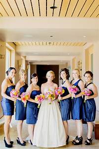 navy blue summer wedding at green music center With blue summer dresses for weddings