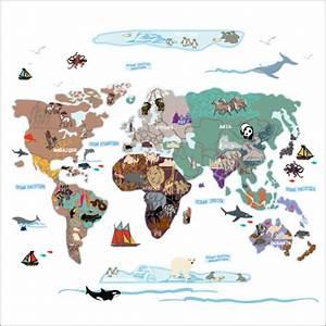 Carte Du Monde Sticker : nouveaut stickers la carte du monde ~ Dode.kayakingforconservation.com Idées de Décoration