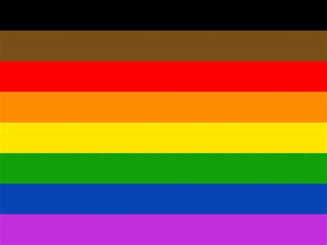 lgbt flag colors philly petitions to add black brown stripes to lgbtq