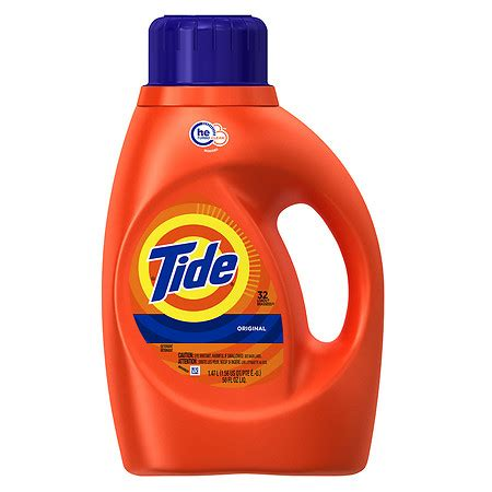 what is he detergent tide he laundry detergent original scent 32 loads walgreens