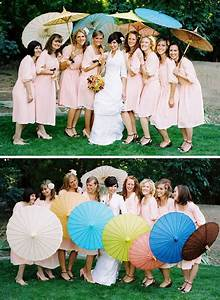 Umbrellas for your bridal party green wedding shoes for Umbrella wedding photos
