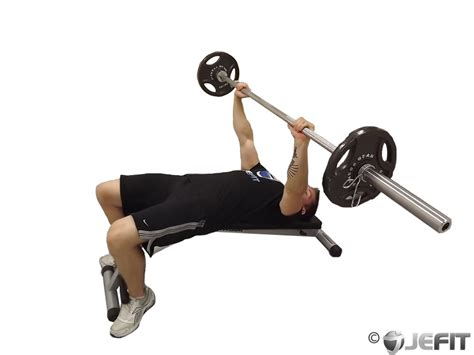 Decline Bench Press by Barbell Decline Bench Press Exercise Database Jefit