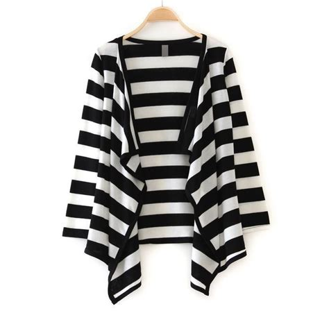 and white striped sweater black and white striped open cardigan favorites