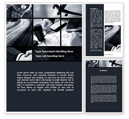 business activity collage word template