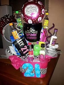 21st birthday gift for Mir Basket/bucket with: margarita ...