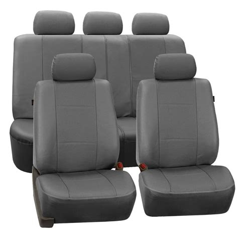 Deluxe Leatherette Full Set Auto Seat Covers Air Bag Safe
