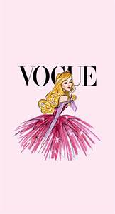Disney Vintage Vogue iphone Wallpaper - Aurora | Fairytale ...