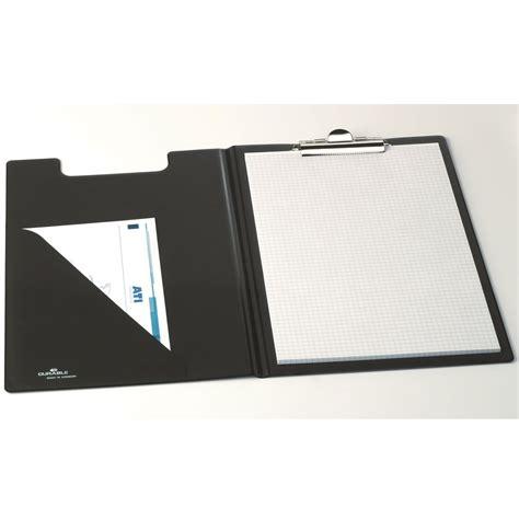 bloc note bureau durable porte bloc a5 avec rabat standard coloris noir