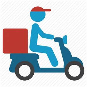 Bike, courier, delivery, pizza, scooter, shipping ...