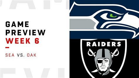 seattle seahawks  oakland raiders week  game preview