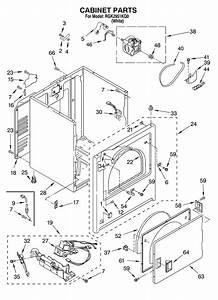 Cabinet Diagram  U0026 Parts List For Model Rgk2951kq0 Roper