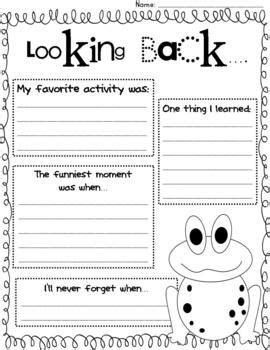 end of year worksheets looking back end of the year reflection by jones tpt