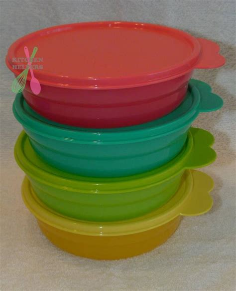 tupperware everyday bowls set of 4 choose a set pink