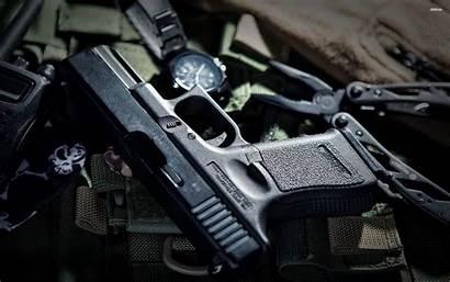 Glock Wallpapers Parede Papel Pistol Waffen Armas