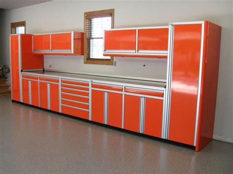 Tech Cabinets by Ctech Cabinets Orange Chrome Workshop Overhead Base