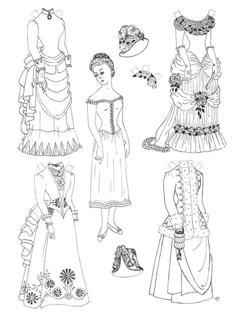 printable paper doll coloring pages  kids
