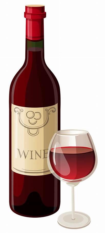 Wine Clipart Bottle Glass Vector Clip Glasses