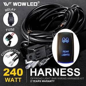 Driving Work Led Light Bar Wiring Harness Kit Rocker