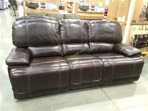 costco leather reclining sofa leather power reclining sofa costcochaser