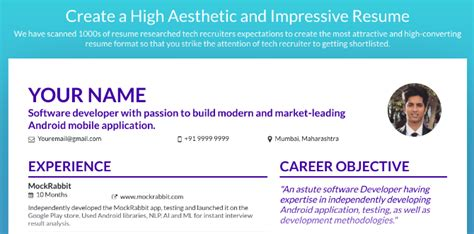 How To Make Your Resume More Attractive by 5 Free Resume Makers To Make Your Cv Stand Out In A Hunt