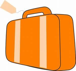 Suitcase - Orange Clip Art at Clker.com - vector clip art ...