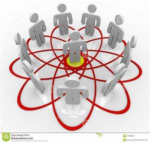 Venn Diagram Many People One Person In Center Stock Photography
