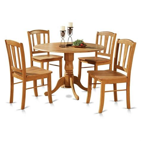 pc  pedestal drop leaf kitchen table  chairs