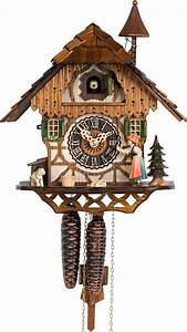 Hones, Chalet, Style, One, Day, Cuckoo, Clock, With, Moving, Bell, Ringer