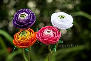 Crochet Ranunculus Pattern by Happy Patty Crochet