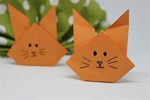 Origami Osterhase Faltanleitung Einfach : diy hasen falten osterhasen falten basteln osternest basteln ~ Watch28wear.com Haus und Dekorationen