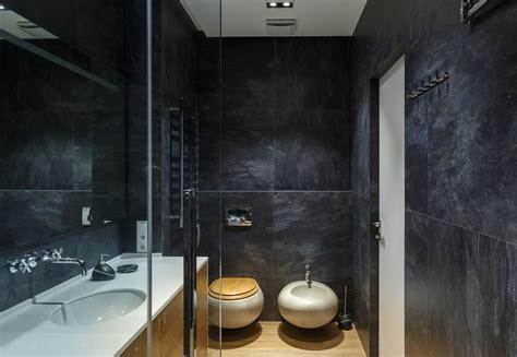 Browse modern bathroom designs and decorating ideas. Glass Bathroom Walls In Modern Apartment By SVOYA ...
