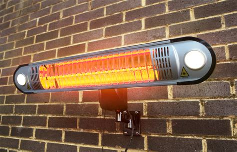 firefly 1 5kw halogen bulb electric infrared heater with easy fit wall lights and remote